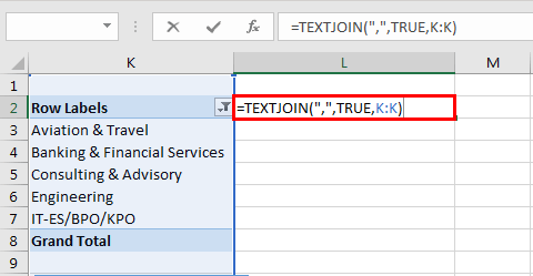 Pivot table Filter example 5.1