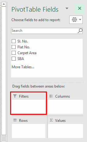 Pivot table Filter examplee 1.4