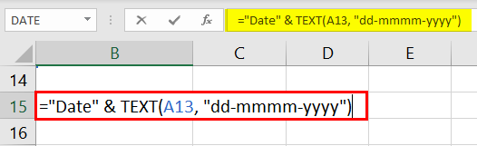 TEXT for dates in Excel example 5