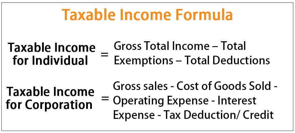 Taxable Income Formula