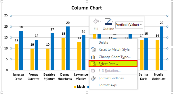 Types of Graphs step 4
