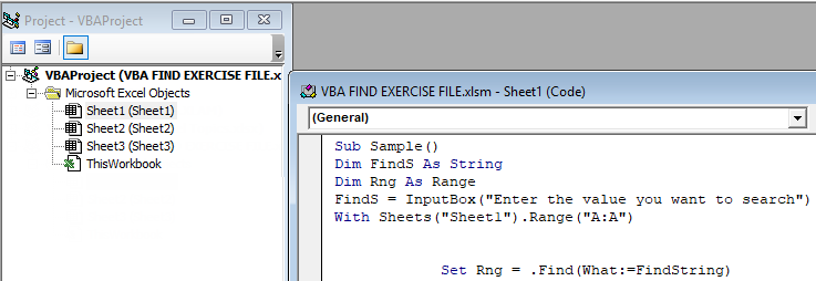 VBA Find Example 1-4