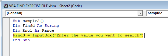 VBA Find Example 2-6