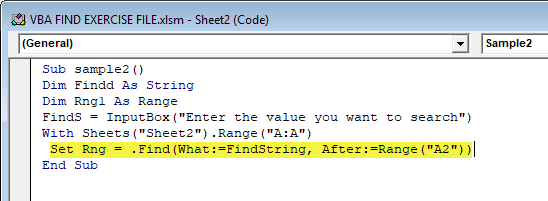 VBA Find Example 2-8