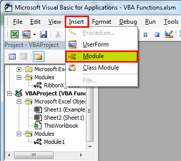 VBA Function Example 1-7