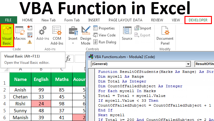 VBA Functions in Excel | Guide to Create Custom Excel ...
