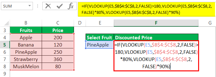 Vlookup with If Example 3-1