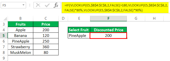 Vlookup with If Example 3-2