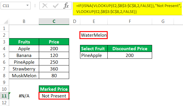 Vlookup with If Example 4-2
