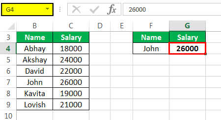 Vlookup with Vba Example 2-2