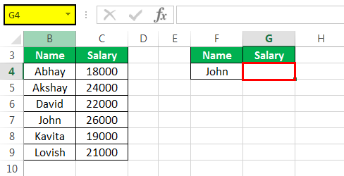 Vlookup with Vba Example 2