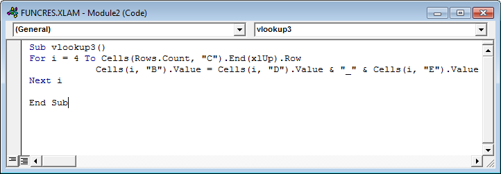 Vlookup with Vba Example 3-1