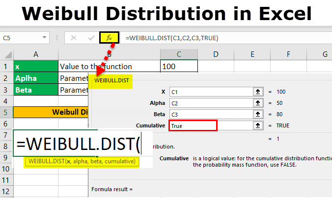 Weibull Distribution in Excel
