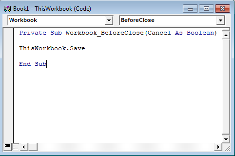 VBA Before Close Example 2.6
