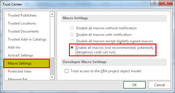 enable macros in excel example 1.5