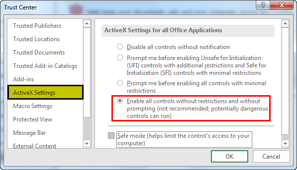 active x settings example 1.9