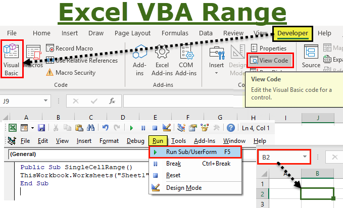VBA Range Objects | How to Use Ranges in Excel VBA (with ...