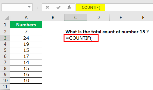 excel countif example 1.2