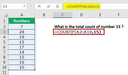excel countif example 1.4