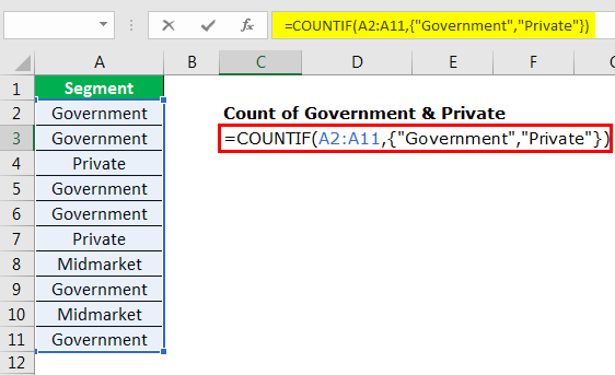 excel countif example 3.6