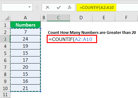 excel countif example 4.2