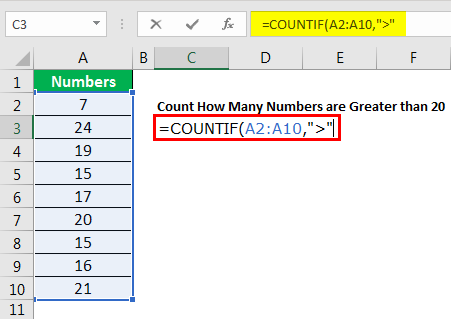 excel countif example 4.3