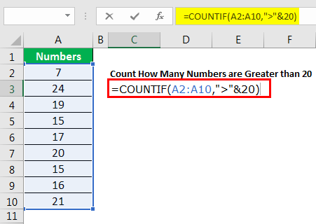 excel countif example 4.4