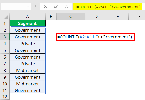 excel countif example 5.2