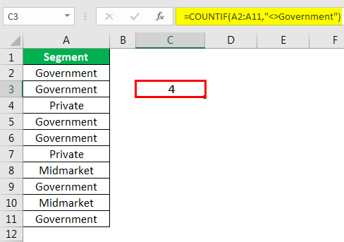 excel countif example 5.3