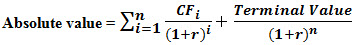 Absolute valuation formula3pg