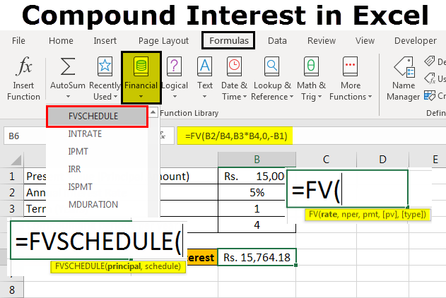 Compound Interest in Excel