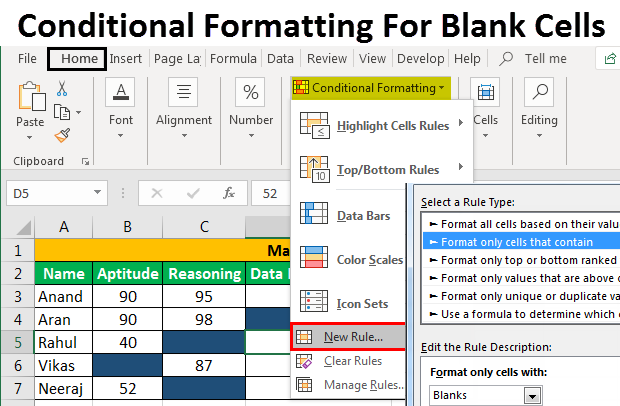 Conditional Formatting For Blank Cells Image