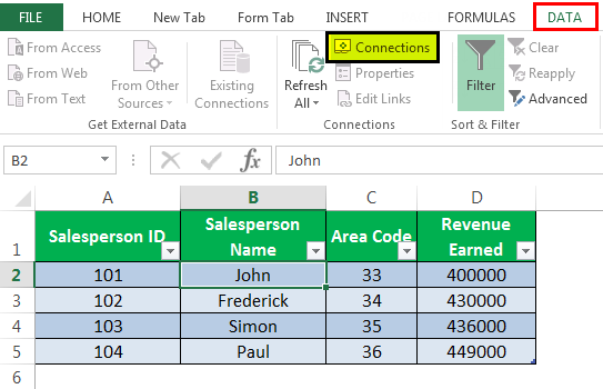 Model Via Connections Example 1-5