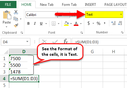 Excel Formual Not Working Example 1-1