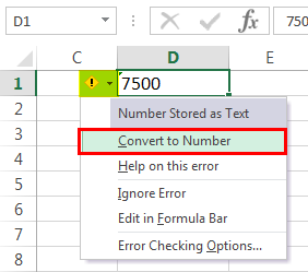 Excel Formual Not Working Example 1-2