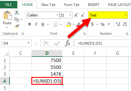 Excel Formual Not Working Example 1-4