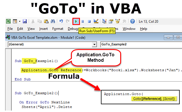 Excel VBA Goto