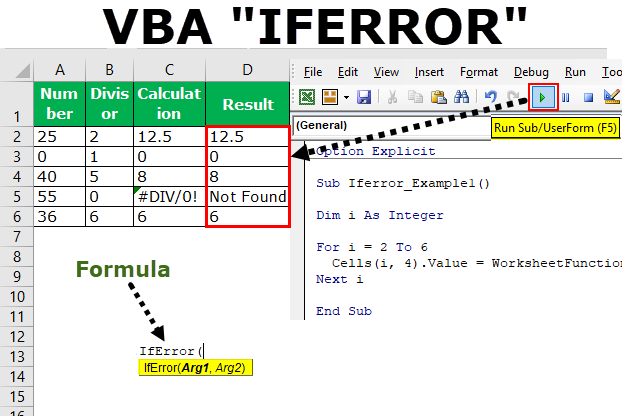 VBA IFERROR | Step by Step Examples to use IFERROR VBA Function