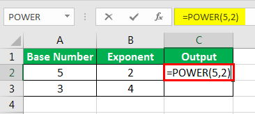 Exponents in Excel Examples 1-3