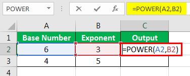 Exponents in Excel Examples 1