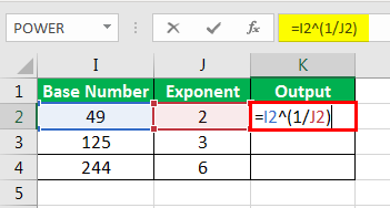 Exponents in Excel Examples 2-3