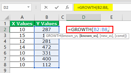 GROWTH Formula Example 1-2