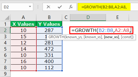 GROWTH Formula Example 1-3