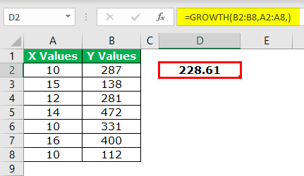 GROWTH Formula Example 1-4