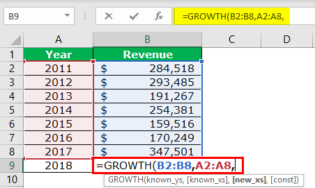 GROWTH Formula Example 2-3