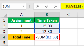 How to Sum Hours in Excel example 1-2