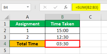 How to Sum Hours in Excel example 1-3