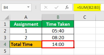 How to Sum Hours in Excel example 1