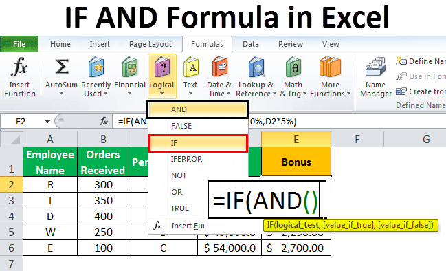 IF AND in Excel   Complete Guide to Use IF Formula with AND