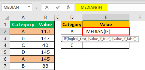 MEDIAN with IF Condition Step 4